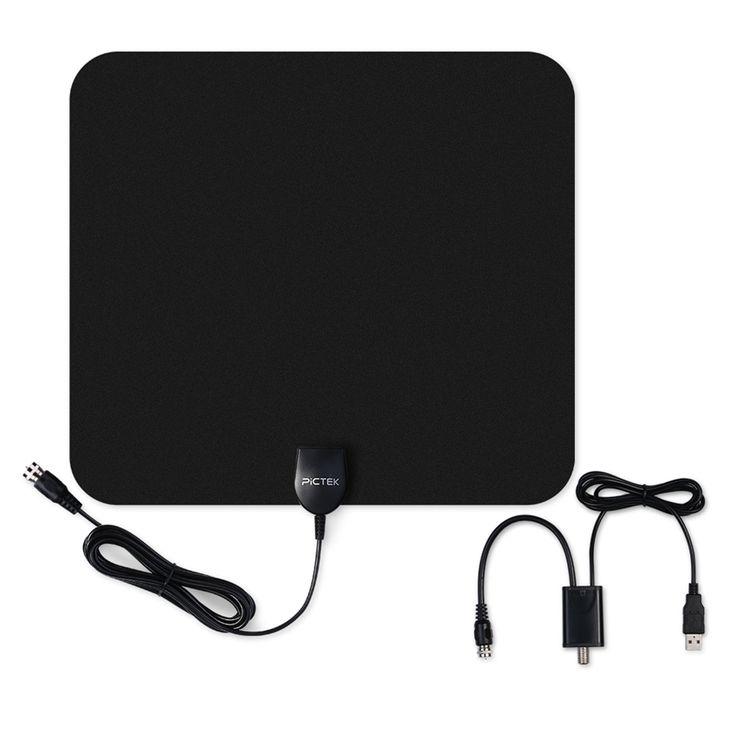 Pictek 25dBi Digital Dalam Ruangan Antena HDTV dengan Dilepas Amplifier Signal Booster, Kupu-kupu Berbentuk Gambar dioptimalkan untuk US UNI EROPA