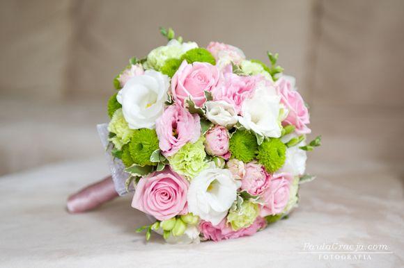 Pozytywne Inspiracje Ślubne: Różowo-zielone bukiety