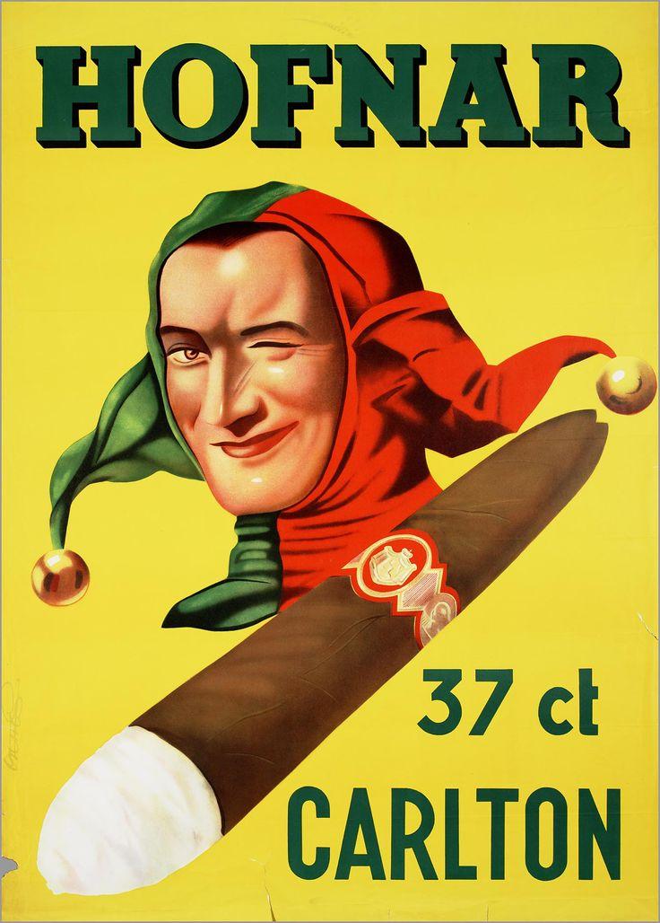 Een affiche van Frans Mettes (1909 -1984) voor Hofnar uit de periode 1960 - 1970