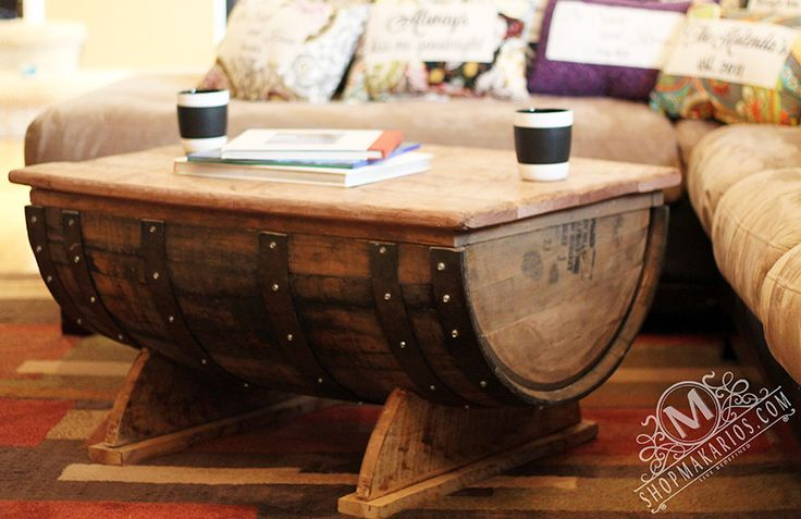 Shop Makarios Furniture - Barrel Coffee Table, Whiskey Barrel Table $589.95 I WILL have this in my home when we move back to the states.