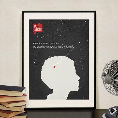 Minimalist Poster Quote Ralph Waldo Emerson | Design Different