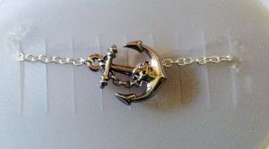 This ankle bracelet of an anchor is a fundraiser on Etsy for a mother of 4 who died after being stung by bees and also lost the 5th child she was carrying. It is a symbol to remind us to anchor to God. Please consider buying one.