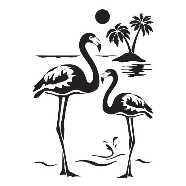 laser kunststoff schablone din a4 selbstklebend flamingos neshet pinterest siluetas. Black Bedroom Furniture Sets. Home Design Ideas