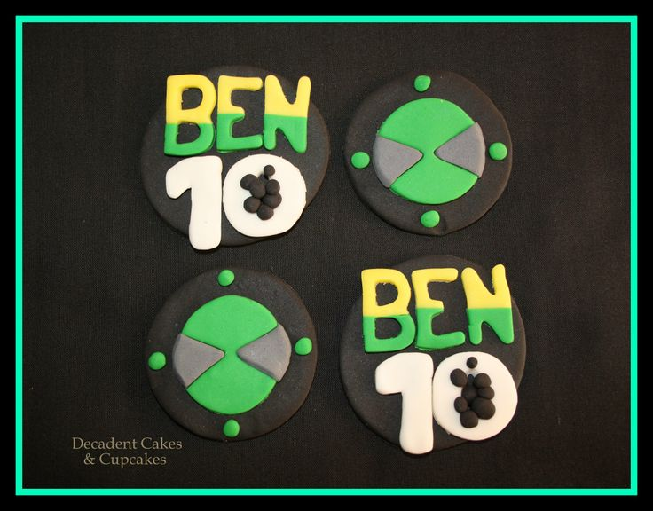 <3 Ben 10 Cupcakes Toppers <3 Made By Decadent Cakes & Cupcakes