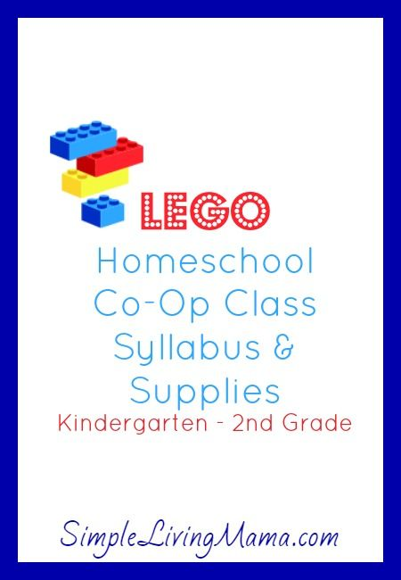 LEGO homeschool co-op plans for K-2nd grade. Includes a printable syllabus and supply sheet with links to all resources used - Simple Living Mama