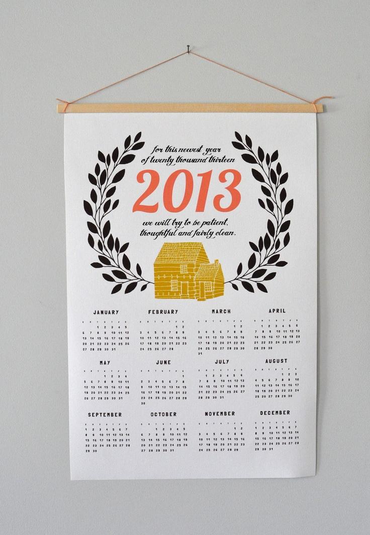 2013 Canvas Home Calendar. $35 by Spread the Love via @Etsy