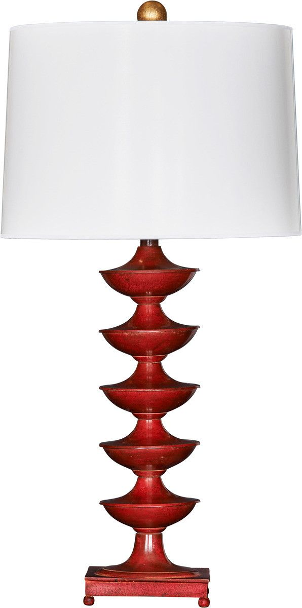 Asher Chase Red Cinco De Roja Table Lamp with Shade - LOW STOCK, ORDER NOW!