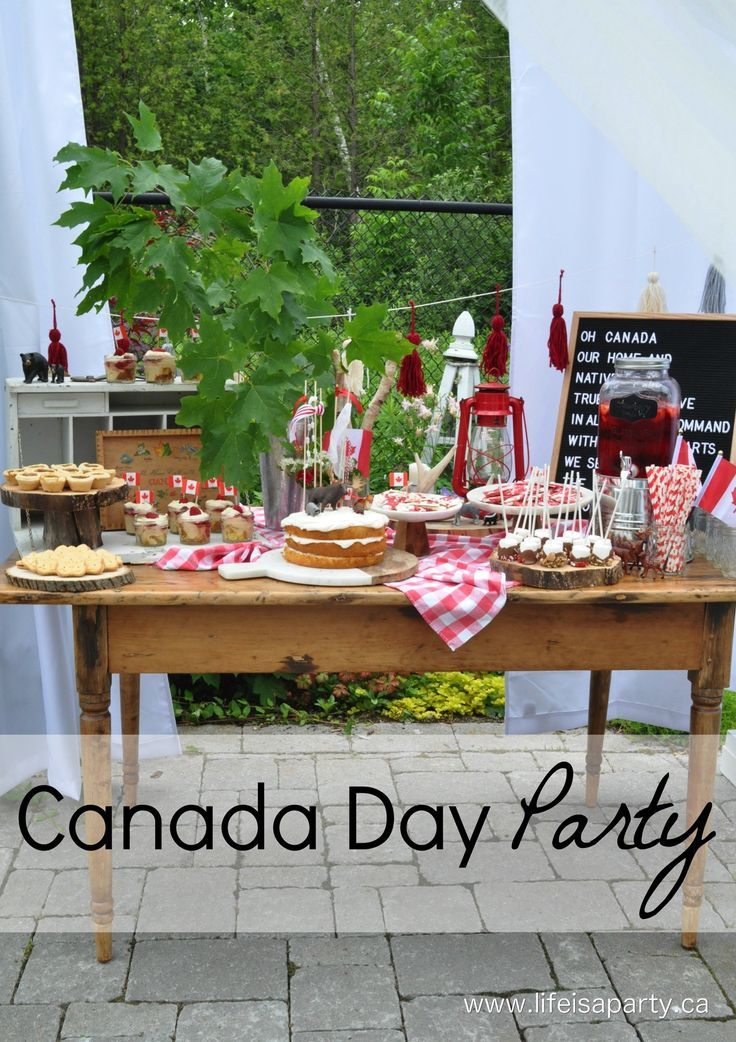 Canada Day Party -Classic Canadiana party decor, and Canada themed desserts that are easy to put together make this the perfect way to celebrate!