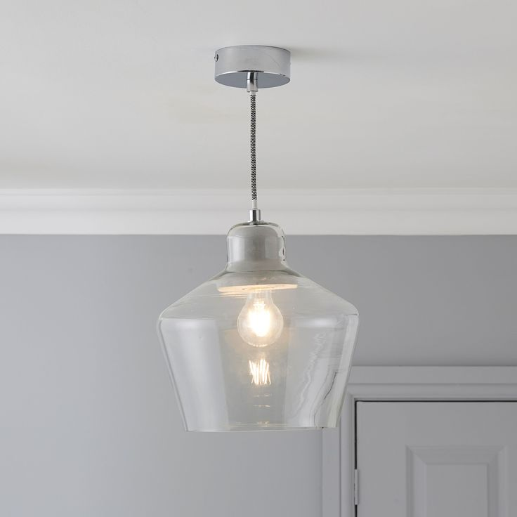 Jidda Clear Pendant Ceiling Light - Large  | Departments | DIY at B&Q