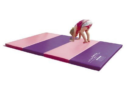 Tumbl Trak Pink And Purple Jill Tumbling Mat With 18 Inch