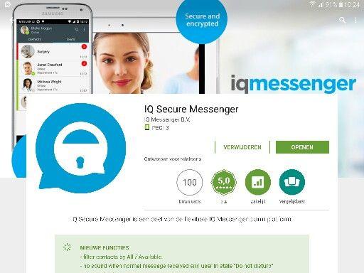 Vergeet als gebruiker van je eigen Secure Messenger platform niet je App te updaten! Voor beheerders van je eigen IQ Secure Messenger platform hoef je niets te doen. Voor de nieuwe update hebben we al een hoop nieuwe feature verzoeken ontvangen, heeft u ook een verzoek? Mail ons gerust!