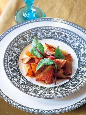 【ELLE a table】鴨のマグレと焼きかぶのサラダレシピ|エル・オンライン
