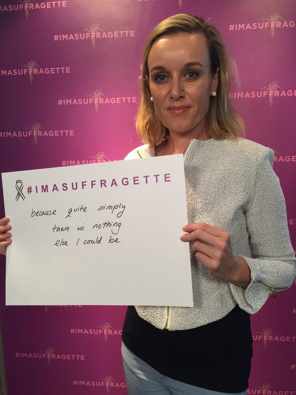#imasuffragette because quite simply, there's nothing else I could be #inspiringwomen #suffragette https://t.co/BElumt27EO