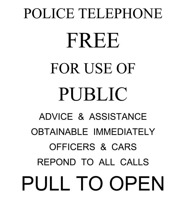 Doctor Who TARDIS Scrapbook Page Idea and Free Printable: Police Call Box Sign Free Download