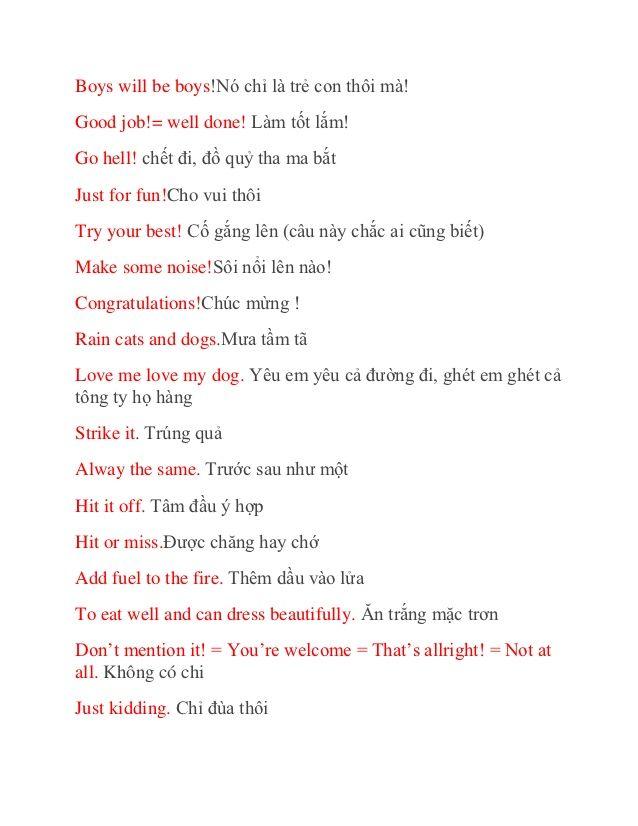 50 câu tiếng anh thường ngày bạn cần biết