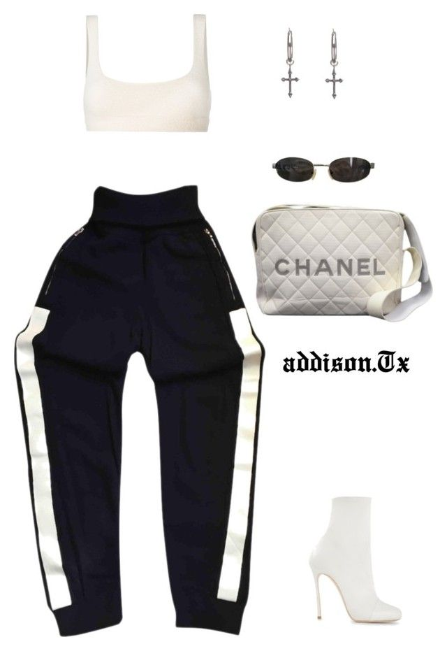 """Workout plan."" by fashionoise ❤ liked on Polyvore featuring Chanel, Yeezy by Kanye West, Tom Ford, Dsquared2 and Rachel Entwistle"