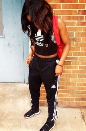 Sweats and crop top