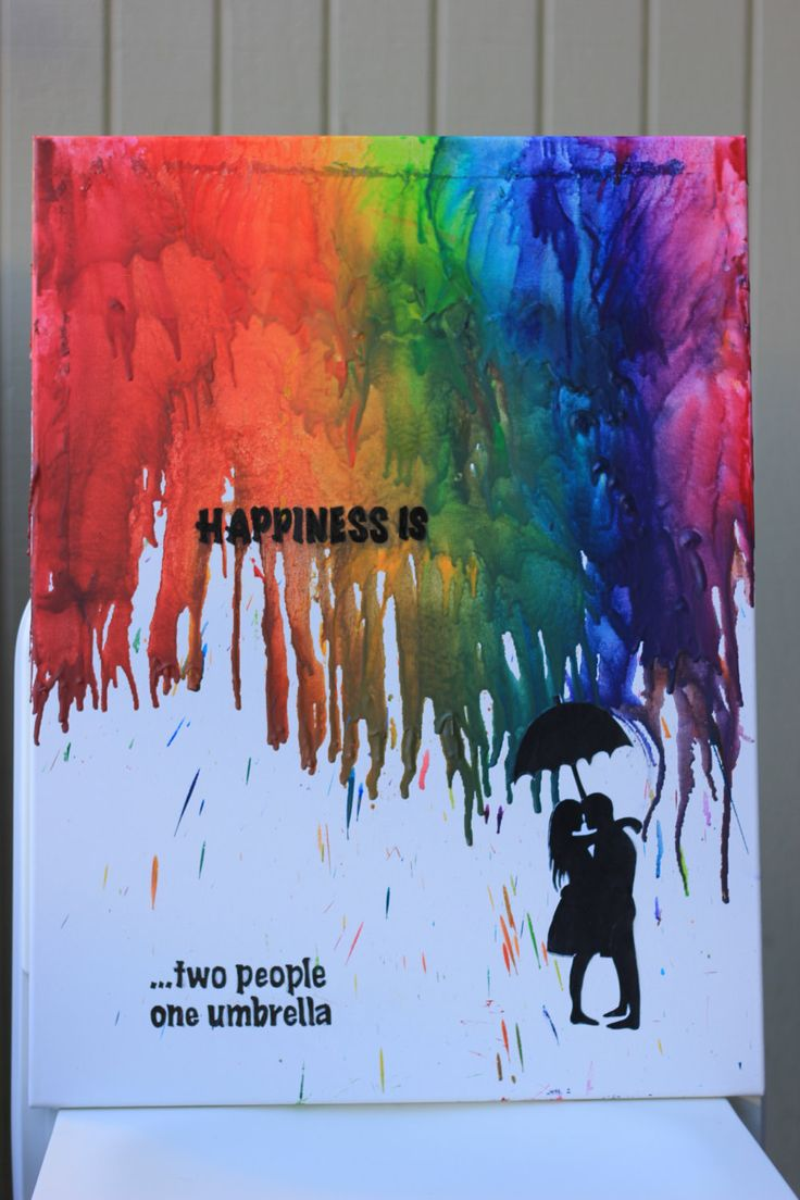 66 best melted crayon art images on pinterest melted for Melted crayon art with quotes