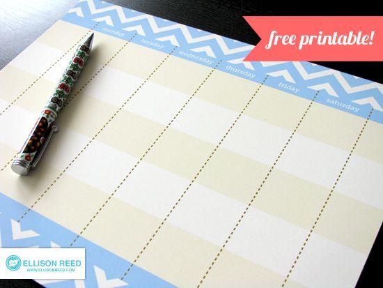 Free Printable Weekly Calendar (she: Melissa) - Or so she says...