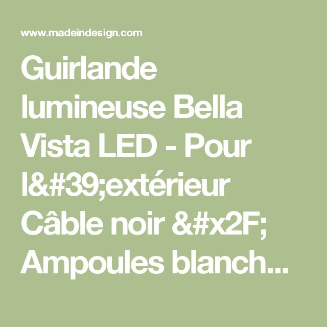 17 best ideas about guirlande exterieur led on pinterest for Guirlande lumineuse exterieur ikea