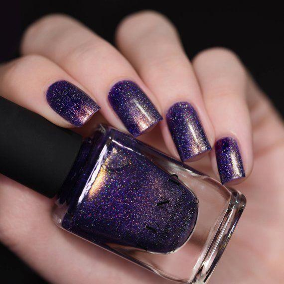 Art District – Regal Purple Holographic Nail Polish #purplenail