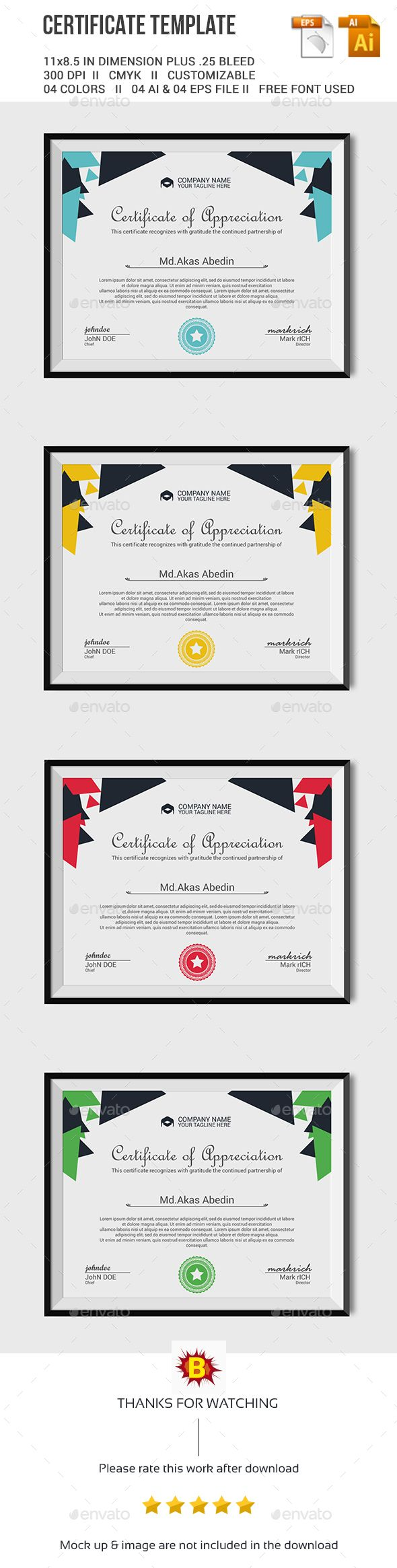 Certificate Template More