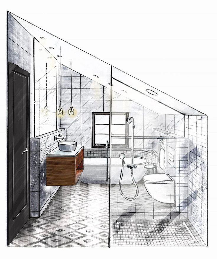 bykovdenis_v interior design sketchesinterior - Interior Design Sketches