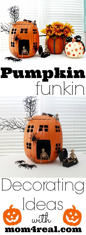 Pumpkin Decorating Ideas by @Jess Pearl Pearl Liu Kielman         {Mom 4 Real} #MPumpkins