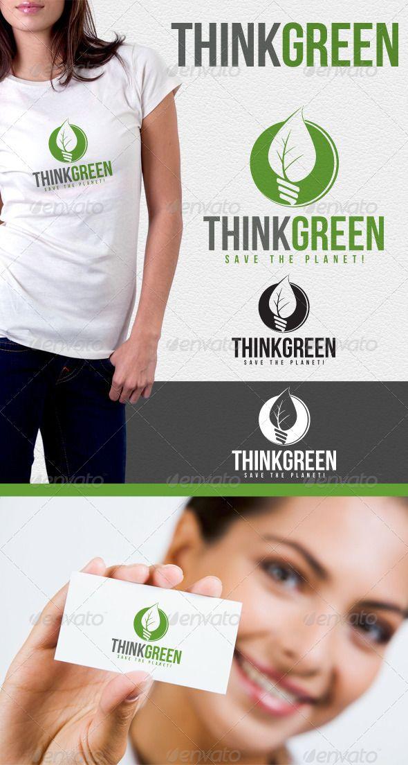 Think Green Environmental Logo (Nature)