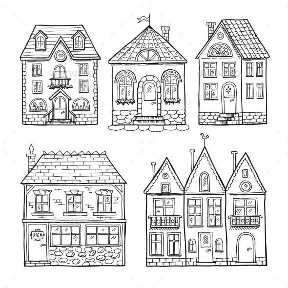 Doodle Houses Doodle House Funny Doodles House Doodle