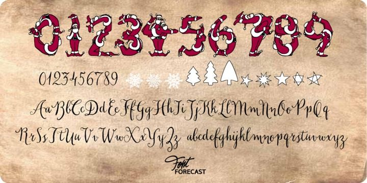 Santas Pen Font Preview