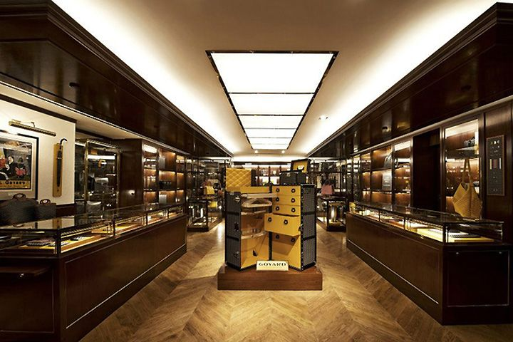 Meant to evoke the look and ambience of its 233 rue Saint-Honoré headquarters in Paris, the boutique is decorated in brass and mahogany and offers the label's latest and most coveted pieces alongside decorative relics highlighting its history over the past two centuries.