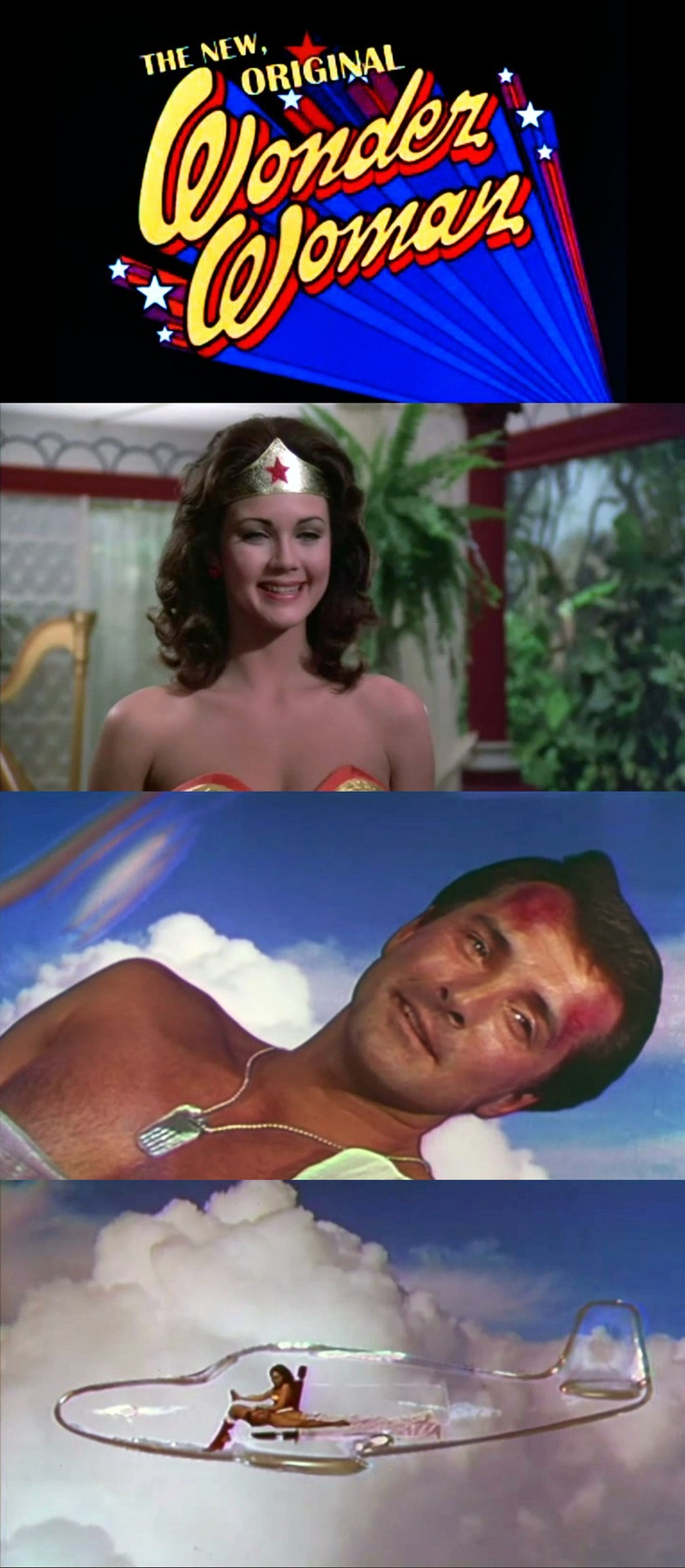The New, Original Wonder Woman (November 1975 Made-for-TV movie, ABC) starring Lynda Carter & Lyle Waggoner. Its successs led to the TV series.