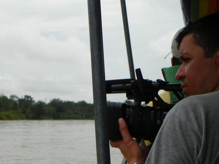 My cameramen making some shots during the river ride