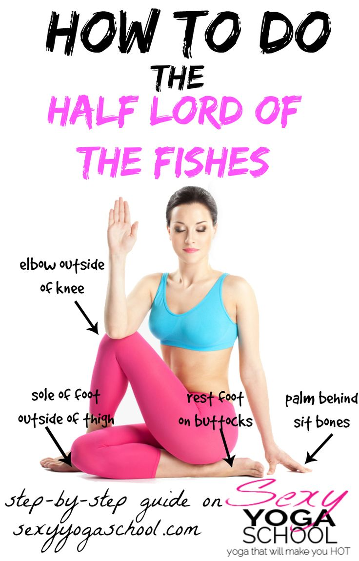 ♥ Ardha Matsyendrasana Step-by-Step ♥ Sexy Yoga School ♥