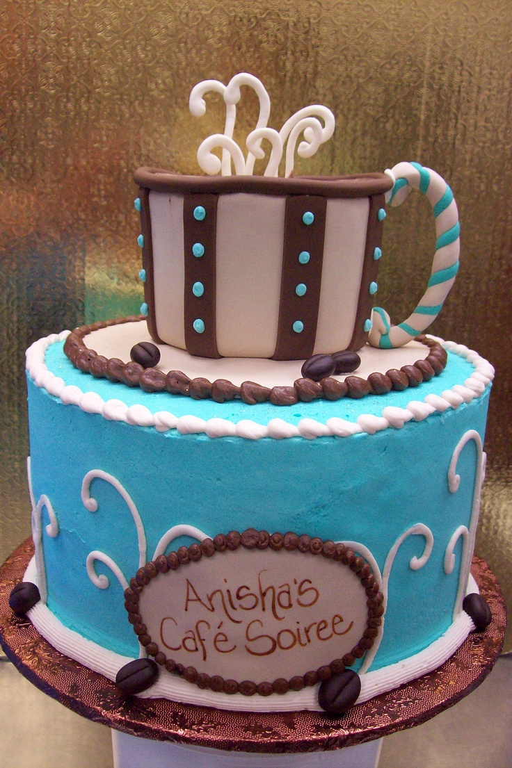 Tiered Coffee Cup Cake Coffee Cakes Pinterest Cup