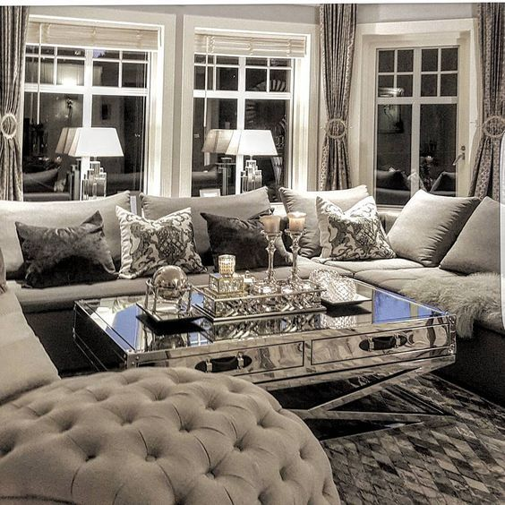 Best 20 luxury living rooms ideas on pinterest - Gorgeous pictures of black white and grey living room decoration ideas ...