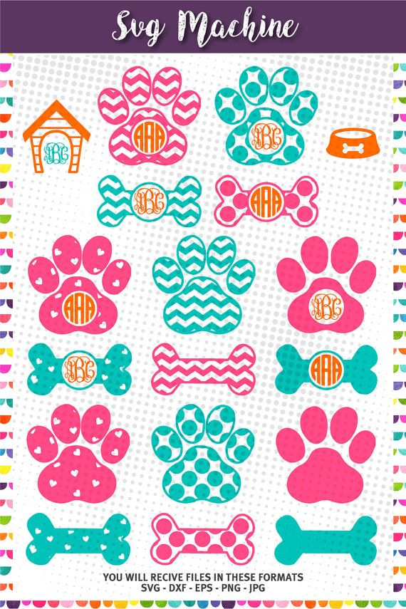 Paw Print SVG Cut File  cut files svg png jpg png by svgmachine