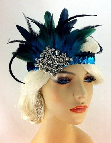 Flapper Headband,1920's Headpiece, Art Deco, Great Gatsby