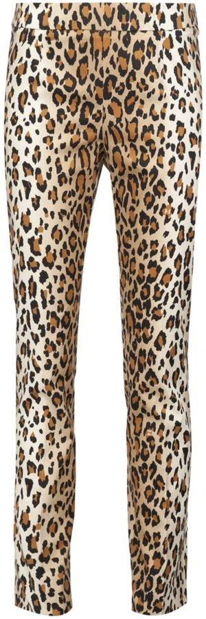 Carolina Herrera pantalon droit à imprimé léopard