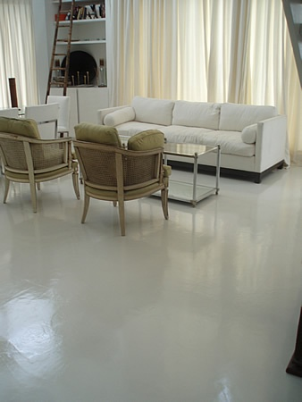 Polished concrete floors , love them