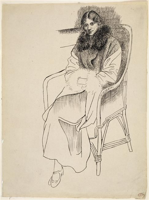 Olga in an armchair, Pablo Picasso,1919 / Paris, musée Picasso