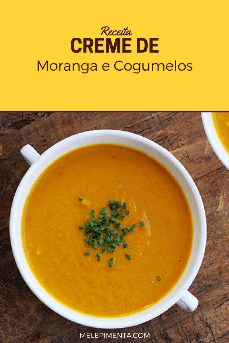 Creme de moranga e cogumelos    Com a chegada do frio, bate aquela vontade de fazer uma sopa ou um creme. Então confira essa receita de creme de moranga e cogumelos.