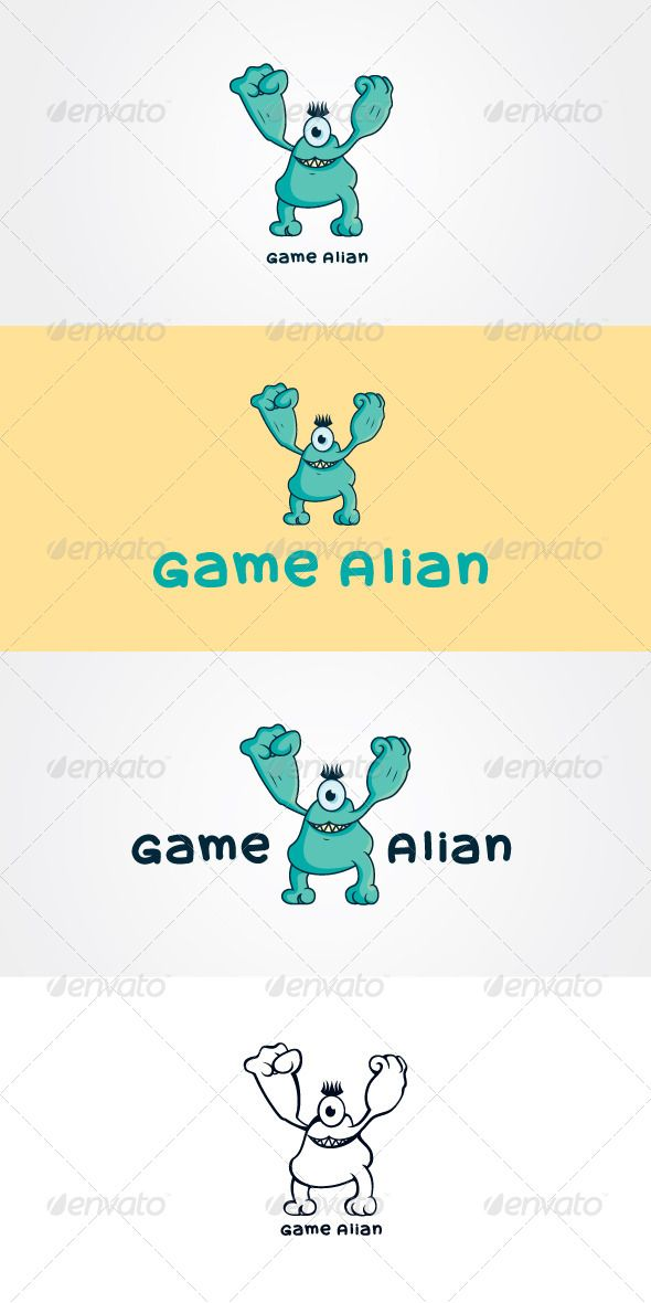 Game Alian Stock Logo Template  #graphicriver