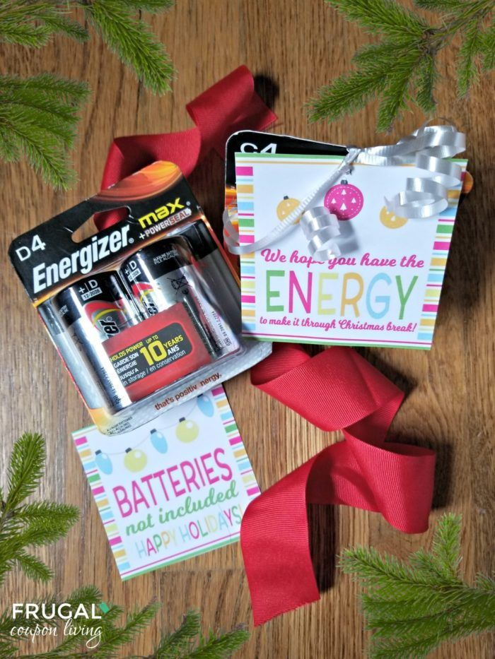picture about Gift Not Included Printable titled Totally free Battery Reward Tag for the Xmas Year All Variables