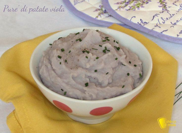 purè di patate viola ricetta con patate viola americane il chicco di mais