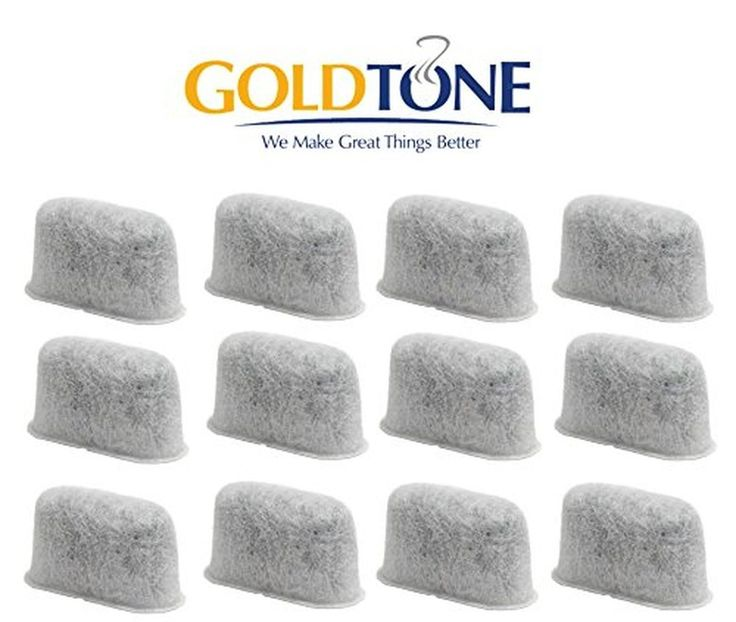 GoldTone 12-Pack Replacement Charcoal Water Filter for Cuisinart Coffee Machi...