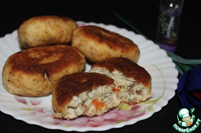 Котлеты из скумбрии с картофельным пюре - кулинарный рецепт