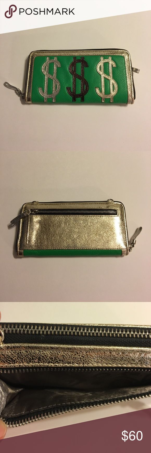 BRIGHTON WALLET Excellent condition like new mad money 💰 green and silver color soft leather missing the strap sorry 😐. BGBG-5011 Brighton Bags Wallets