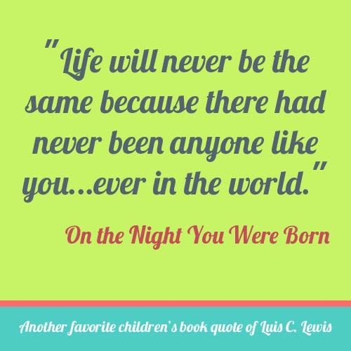 I cried when I read this for the first time with my son Adam on his 1st birthday. It will become tradition that we read this every night on his birthday :)